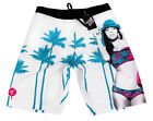 "NEW TITS MEN'S  SURF SWIMWEAR SWIM TRUNKS BOARD SHORTS WHITE ""GREETINGS"" size 32"