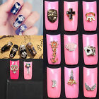 16 Design 3D Plated Alloy Nail Art Tips Decoration Bling Rhinestones Tools New