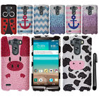For LG G3 mini Vigor D725 LS885 DIAMOND CRYSTAL BLING HARD Case Phone Cover +Pen