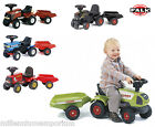 New FALK Ford Claas Kids Farm Outdoor Toy Ride On Tractor with Trailer No Pedal