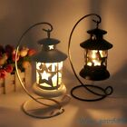 Black/White Star Metal Lantern Candle Holder Romantic Dinner Home Decorations