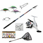 Telescopic Pike fishing Bundle - Rod reel,plugs,traces,line,net-Choice of rods