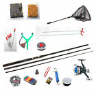 Float Fishing Starter Kit +bait-Rod,Reel,Floats,Line,Rod Rest,Hooks,shot,net etc