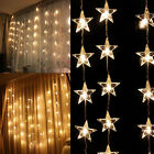 80 LED star string lights 6.6ft * 5ft xmas Party Wedding Curtain Light Decor