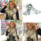 Chic Fashion Pretty Lip Sexy Marilyn Monroe Head Print Chiffon Scarf Shawl Wraps