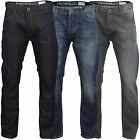 Mens Denim Jeans Firetrap 'Bromar' Slim Fit Zip Fly Raw Wash Stonewash