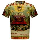Binding Tie Masonic Cigar Label Sublimated Sublimation T-Shirt S,M,L,XL,2XL,3XL
