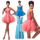 Chic Women's Party Evening Wedding Bridesmaid Prom Ball Gown Mini Slim Dresses