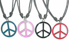 1x Peace Sign CND Hippy Festival Adjustable Necklace Pendant Choker 4 Colours