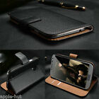 Real Genuine Leather Wallet Case Pouch Cover For New Samsung Galaxy Alpha G850