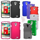 For LG Access F70 L31G Cover Hard Rubberized Case + UNI Screen Protector