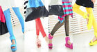 New 100% Girls Candy Colored Leggings Solid Shiny Bright High Quality Thin Pants