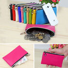 Women Lady Leather Pouch Wallet Coin Card Phone Key Ring Purse Handbag Bag