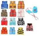 Children's Dress Up Vest 14 Professions to Choose from Child Costume fnt