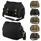 Men's Vintage Canvas Satchel School Military Laptop Shoulder Bag Messenger Bag