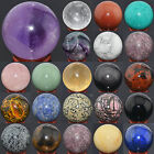 50MM Mixed Natural Gemstone Sphere Crystal Ball Healing