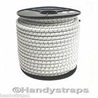 1 meter x 12mm Shock Cord Elastic Bungee Rope in Black White with Black fleck