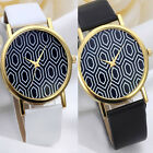 Unisex Fashion Geneva Leather Band Quartz Analog Wrist Watches Watch Cheap