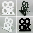 Metal Cook Book Stand in Black or White Kitchen Cooking Recipe Holder Display