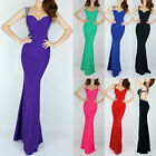 FREE SHIP Long Black Sequin Backless Bodycon Masquerade Prom Evening Tight Dress