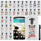 For LG G3 D850 D851 LS990 VS985 Cute Design PATTERN HARD Case Phone Cover + Pen