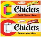 240 Pieces CHICLETS CHEWING GUM 24 Packs ~ FRUIT or PEPPERMINT Flavor American