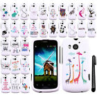 For Huawei Vision II 2 Art Design PATTERN HARD Protector Case Cover Phone + Pen