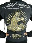 NEW ED HARDY CHRISTIAN AUDIGIER WOMEN'S PREMIUM JACKET BLACK PANTHER SIZE M
