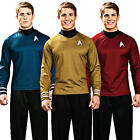 Star Trek Shirt Adult Fancy Dress Scott Kirk Spock Sci Fi Mens Costume Outfit