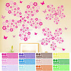 100 Flower Floral Wall Sticker Decals Room Art Home Decor 12 Colors