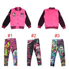Girl Kid Monster High Leggings Jacket Coats Sportswear Outwear Sweatshirt Jumper