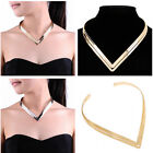 Statement Shiny Metal Gold Silver Chain Bib Choker Chunky Collar Necklace New