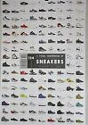"NEW Pop Chart Labs 24"" x 36"" VISUAL COMPENDIUM OF SNEAKERS Poster Original LE"