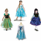 Girls Frozen Princess Elsa Anna Halloween 3-8Y Cosplay Kids Party Fancy Dress Up