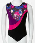 NWT New Jacques Moret Night Sky Tank Leotard Silky Metal Star Shimmer Cute Girl