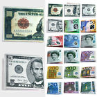 Chic Womens Mens Unisex Currency Notes Dollar Pound Pattern Wallet Purse