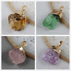 Similar Item Rough Natural Amethyst Citrine Fluorite Quartz Pendant HYG064