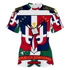 Dominican Republic Coat of Arms Sublimation Woman's T-Shirt S,M,L,XL,2XL