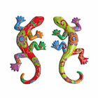 Decorative Bright Coloured Gecko / Lizard Wall Art Garden Ornament Home Feature