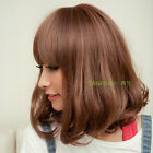 100% Real hair! 2 Color New Fashion women's Short Brown Human Hair wigs