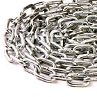 10mm CHAIN - VERY HEAVY DUTY - THICK WELDED SECURITY ZINC CHAIN - LINKS HANGING