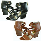 Michael Kors Womens Thedore Open-Toe Ankle Strap Zipper Sandals Heels Shoes