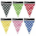 Polka Dots FLAG BANNER (12ft/3.6m)Spots Spotty Garland Decoration Birthday Party