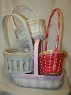 wicker baskets floristry~ white~ pink~ lace mothers day styles