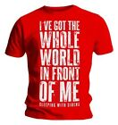 Official T Shirt Red SLEEPING WITH SIRENS Whole World Lyrics All Sizes