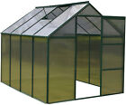 Woodside Green Aluminium Polycarbonate Clip Greenhouse With Foundation