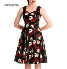HELL BUNNY Gothic 50s Dress ROCK AND RUIN Skulls Roses All Sizes