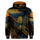 Edvard Munch The Scream Sublimated Sublimation Zipper Hoodie S,M,L,XL,2XL,3XL