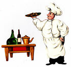 "4.5-7.5"" FAT ITALIAN CHEF KITCHEN WALL SAFE STICKER CHARACTER BORDER CUTOUT"