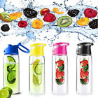 New 800ML Fruit Infusing Infuser Water Sports Health Lemon Juice Bottle Flip Lid